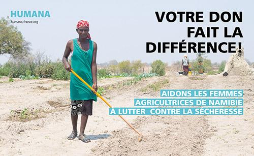 Urgence climatique: Aidez les agricultrices de Namibie